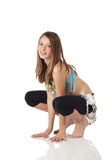 Young belly dancing girl Royalty Free Stock Image