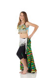 Young belly dancing girl Royalty Free Stock Photography