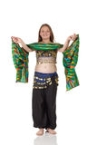 Young belly dancing girl Royalty Free Stock Photo