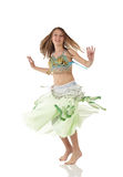 Young belly dancing girl Stock Images