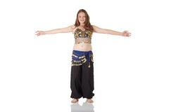 Young belly dancing girl Stock Image