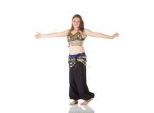 Young belly dancing girl Stock Photos