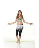 Young belly dancing girl Royalty Free Stock Photos