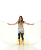 Young belly dancing girl Royalty Free Stock Images