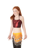 Young belly dancing girl Stock Photos