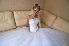 Young beutiful bride royalty free stock image