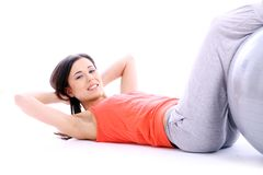 Young and beutiful girl doing yoga exercises Stock Photography