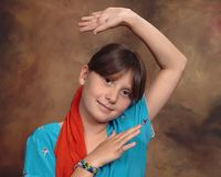 Young Bhangra Bollywood dancer Stock Photo