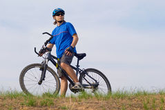 Young bicyclist Royalty Free Stock Photography