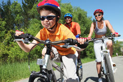 Young bicyclist Royalty Free Stock Photo