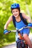 Young bicyclist Stock Photos