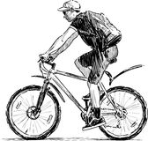 Young bicylist Stock Photography