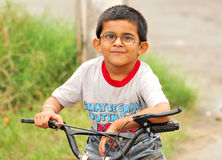 Young biker Royalty Free Stock Photos