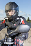 The young biker Royalty Free Stock Photo
