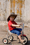 Young biker Stock Photo