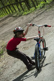 Young biker Royalty Free Stock Images