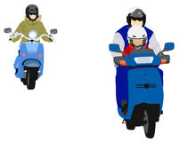Young biker family Stock Image