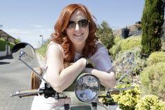 Young biker girl Royalty Free Stock Photo
