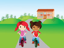 Young bikers Royalty Free Stock Images
