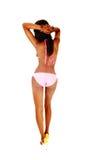 Young bikini girl from back. Royalty Free Stock Photos