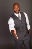 Young Black Business Man handshake Stock Photos