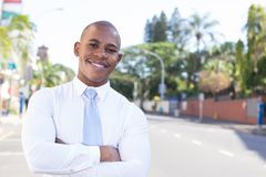 Young Black Business outside the office stock photography