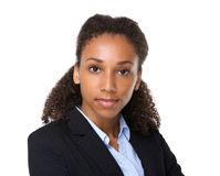 Young black business woman. Close up portrait of a young black business woman stock photography