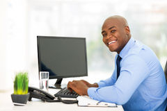 Young black businessman Royalty Free Stock Photos