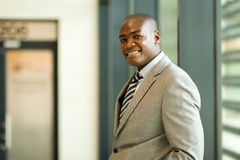 Young black businessman stock photo