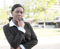 Young black businesswoman Royalty Free Stock Photos