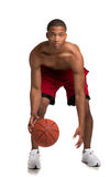 Young Black College Student Holding Basket Ball Stock Photo