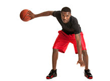 Young Black College Student Playing Basket Ball Royalty Free Stock Images