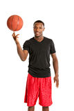 Young Black College Student Playing Basket Ball Royalty Free Stock Photos