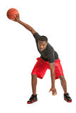 Young Black College Student Playing Basket Ball Stock Photo
