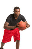 Young Black College Student Playing Basket Ball Stock Images
