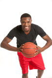 Young Black College Student Playing Basket Ball Royalty Free Stock Image