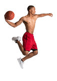 Young Black College Student Playing Basket Ball Stock Image