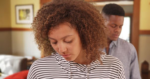 Young black couple having relationship problems Stock Photos