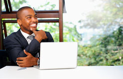 Young black executive Stock Photo