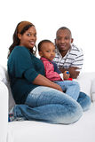 Young black family at home Royalty Free Stock Image