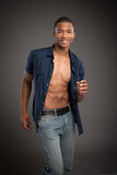 Young Black Fashion Male Model Portrait Stock Images