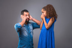 Young black father with his teenage daughter Royalty Free Stock Images