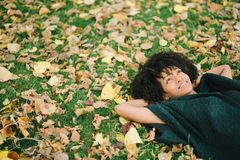 Autumn day dreaming and relax Royalty Free Stock Photo