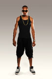 Young Black Hip Hop dancer Royalty Free Stock Images