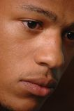 Young black male. Close up of a young mans face Stock Image