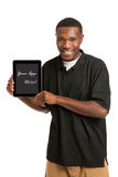 Young Black Male Holding a Tablet PC Stock Photography