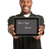 Young Black Male Holding a Tablet PC Royalty Free Stock Image