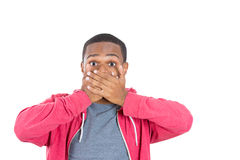 A young black man in disbelief Stock Photos
