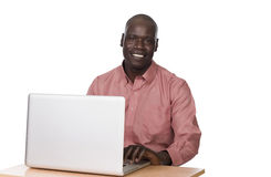 Young black man with laptop Stock Image