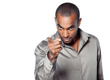 Young black man pointing Royalty Free Stock Photo